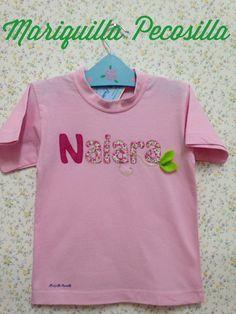 Camiseta Naiara con hojas de fieltro