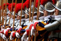The Vatican's elite Swiss Guard, Vatican City. Photo by Franco Origlia.