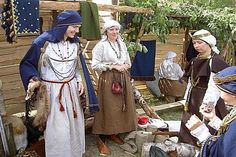 A group in 10th-12th century Semigallian dress.