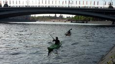 Kayak fun on the Moscow river, may 2015