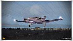 Piper PA-31T Cheyenne von Aerosoft über Berlin Tempelhof (THF)