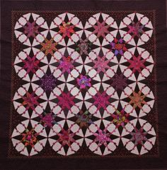 Catherine Butterworth's Jolly Stars quilt as seen at Quiltsmith