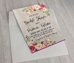 Floral Wedding Invitation Printable Rustic Wedding Invitation Suite Boho Chic Wedding Invite Spring Wedding Invite Set DIY Wedding por DigartDesigns
