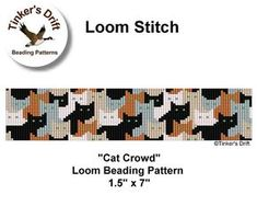 Loom Beaded Bracelet Pattern, Instant Download PDF, Seed Bead Pattern This pattern has been edited to include blue eyes on the white cats and to improve the seamless nature of the design. Stitch Type: Loom Bead Type: Miyuki Delica Bead Size: 11/0 Colours: 7 Bead Count: 2884 Finished Size: 1.5 inches by 7 inches PDF file includes: Bead Graph Word Chart Bead Legend Additional Information: All of my patterns are for personal use and you are free to sell your finished product. Please do...