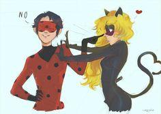 Genderbend for the win. Lady Bug, Miraculous Ladybug Personajes, Film Manga, Mlb, Adrien Miraculous, Adrien Agreste, Gender Swap, Marinette And Adrien, Cat Noir