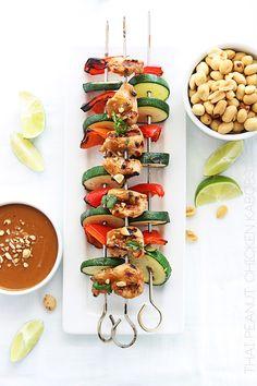 タイのピーナッツチキンカバブ+ピーナッツソース - クリーム·デ·ラ·クラム