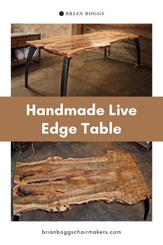 Some slabs of wood carry a beauty which can't be confined to a geometric form. Create a unique table for your dining experience from our fine selection. Bookmatched to allow the tree's full glory to shine, these tabletops are supported and enhanced by the graceful legs of our Lily table base. #table #furniture #home #homedecor #decor #halltable #brianboggs #crafts #craftsman Gel Stain Furniture, Diy Furniture Plans, Wooden Furniture, Table Furniture, Diy Bedroom Decor, Diy Home Decor, Creative Ideas, Diy Ideas, Diy Dining Table