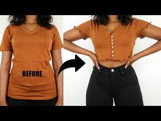 Easy Ways To Upgrade Your Old Boring T-Shirts | T-Shirt Transformation - YouTube