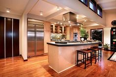 5 things you should know about interior design for your dream house House W ~~Log home Daily Dream Home: Sense Luxury Kitchens, Cool Kitchens, Dream Kitchens, Beautiful Kitchens, Beautiful Homes, Beautiful Interiors, Beautiful Places, Kitchen Dinning, Nice Kitchen