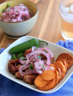 crispy pork belly with sweet potato and mint onion salsa more crispy ...