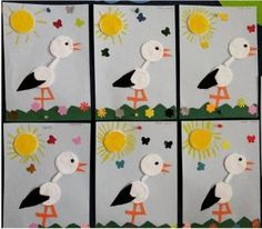 Stork craft idea for kids – Crafts and Worksheets for Preschool,Toddler and Kindergarten Bird Crafts, Nature Crafts, Fun Crafts, Arts And Crafts, Paper Crafts, Diy Paper, Kindergarten Crafts, Preschool Crafts, Spring Crafts For Kids