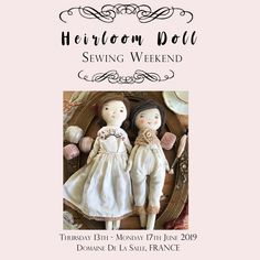 My upcoming Chateau Heirloom Doll workshop in France at Domaine De La Salle, a mini chateau in South West France Mollie Makes, Doll Crafts, Cute Dolls, Fabric Dolls, Doll Clothes, Create Your Own, Awards, Shabby Chic, France