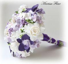 Purple orchid bouquet.