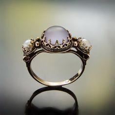 Purple Gold Vintage style ring Traditional by artisaneffect
