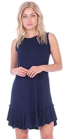 c84427c04ca Popana Women s Casual Summer Tank Midi Dresses Knee Length Beach Sundress  Made in USA