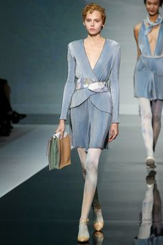 Love this SAGGED LEGGINGS look from Emporio Armani Spring 2014 Ready-to-Wear Collection Slideshow on Style.com