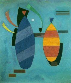 """Wassily Kandinsky - """"Both Striped"""", 1932"""