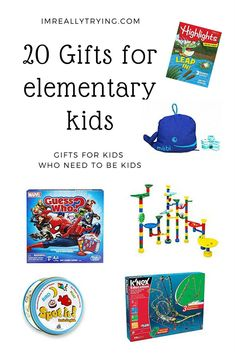 20 non-tech gifts for elementary kids