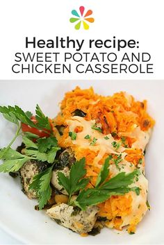 Sweet potato & chicken casserole recipe #healthyrecipe #casserole #everydayhealth | everydayhealth.com