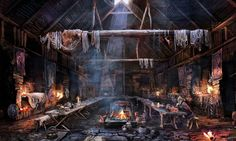 The Witcher 3 Wild Hunt Tavern by Scratcherpen.deviantart.com on @DeviantArt