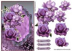 Classic Purple Roses Beauty
