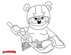 Download a Gummibr September Printable Coloring Page  http