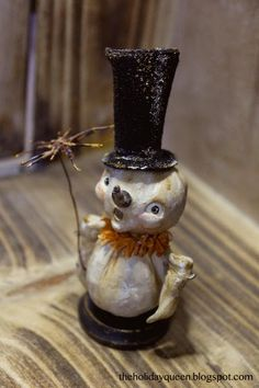 Halloween Folk Art by Melissa Valeriote: Christmas Chimney Sweep
