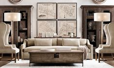 Restoration Hardware design - Liked @ Homescapes Home Staging www.homescapes-sd.com #contemporary #design