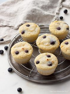 Blueberry Muffins - Low Carb and Gluten Free | Peace Love and Low Carb