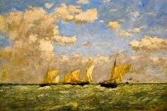 Eugene Boudin - A French Fleet with Packet Boat, 1889 at the Virginia Museum of Fine Arts (VMFA) Richmond VA by mbell1975, via Flickr