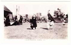 Indian Potlatch at Quamichan, near Duncan c.1930s. Gowen, Sutton Photo postcard.