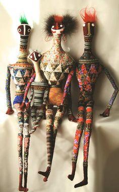bonecos bordados