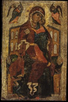 .:. Yaroslavl or Rostov (?), late 13th century Tempera on lime wood. glykofilousa type russian icon.