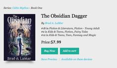 Just heard that The Obsidian Dagger was #2 in a #kobobooks category and this after being #2 in a #amazon category. Cool!