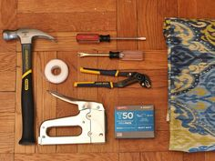 How to re-upholstery a chair…Get your supplies in order
