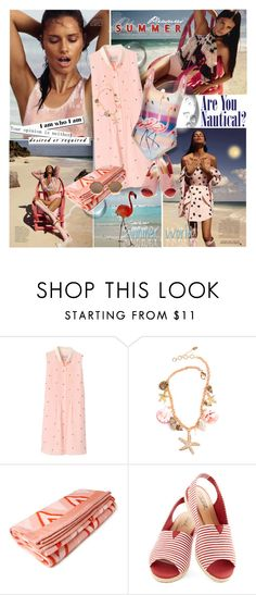 """Flamingos"" by anne-irene ❤ liked on Polyvore featuring Sea, New York, Amrita Singh, Forever 21, We Are Handsome, The Row, women's clothing, women, female, woman and misses"