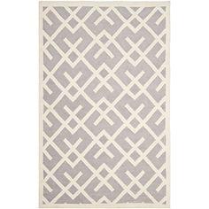 Safavieh Dhurries Collection DHU552G Hand-Woven Wool Area Rug, 9-Feet by 12-Feet, Grey and Ivory Safavieh http://www.amazon.com/dp/B00BHOY108/ref=cm_sw_r_pi_dp_elo3ub1CGY0H1