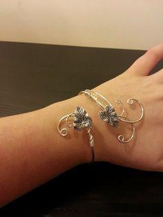 Hiedra hoja plata para mujer regalo brazalete por ElvenstarDesign