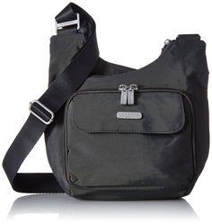 02cfbdbffec 75 AmazonSmile  Baggallini Criss Cross Travel Crossbody Bag, Black, One  Size  Baggallini