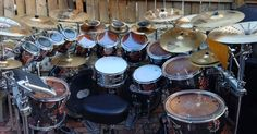I like the setup and would make a small change of moving the second snare to the left side.
