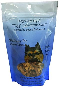 DogChewz NYC Toy Temptations All Natural Dog Treats, 8-Ounce, Blueberry Pie -- Check out this great article.