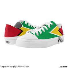 Guyanese Flag Low-Top Sneakers Guyana Proud To be Shoes