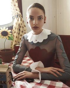 Scalloped pretty dress #editorial