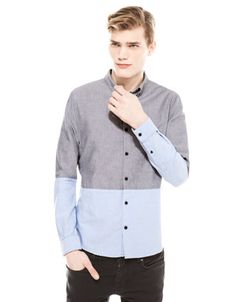 Bershka Colombia - Camisa oxford bicolor $30 mil