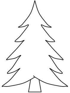 Printable Christmas tree for Art Projects christmas stuff