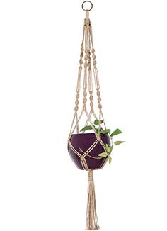 Mkono Macrame Plant Hanger Indoor Outdoor Hanging Planter... https://www.amazon.com/dp/B018C7PKI4/ref=cm_sw_r_pi_dp_x_zIZ9xbBH341K1