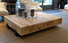 Steps involved in building a DIY coffee table - Have you ever tried of making something on your own from wood? If yes then you are perfectly capable of making a DIY coffee table. You just need to fo. Timber Furniture, Industrial Furniture, Diy Furniture, Furniture Design, Timber Table, Wooden Tables, Diy Coffee Table, Coffee Table Design, Deco Table