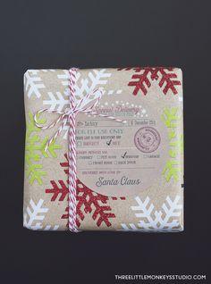 Santa's Special Delivery Gift Label Tags | Worldlabel Blog