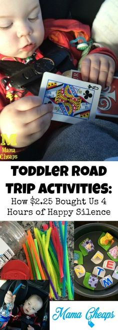 Toddler Road Trip Activities How 225 Bought Us 4 Hours of Happy Sil Car Trip Activities, Toddler Travel Activities, Road Trip Games, Infant Activities, Toddler Car Games, Daily Activities, Summer Activities, Road Trip With Kids, Family Road Trips