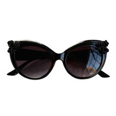Baroque Black Rose Sunglasses.